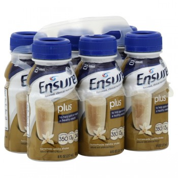 Ensure Plus Nutrition Shake Homemade Vanilla - 6 pk
