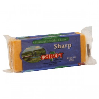 Cabot Vermont Cheese Cheddar Sharp Yellow