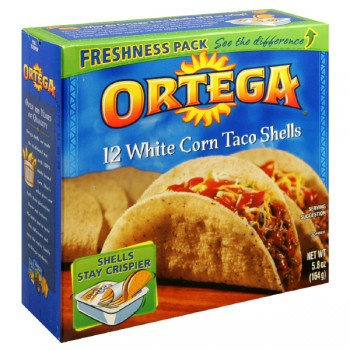 Ortega Taco Shells White Corn - 12 ct
