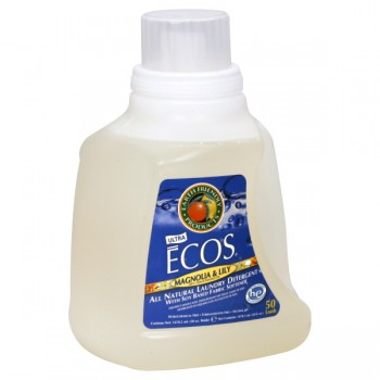 Earth Friendly Ecos 2X Ultra Liquid Laundry Detergent HE Magnolia & Lily