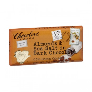 Chocolove Chocolate Bar Dark Almonds & Sea Salt 55% Cocoa Content