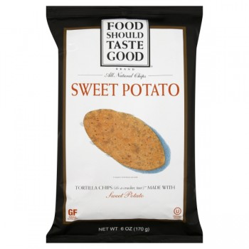 Food Should Taste Good Tortilla Chips Sweet Potato Natural