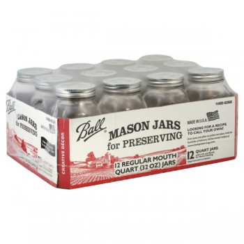 Ball Mason Jars Regular Mouth Quart Full Case