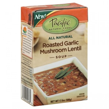 Pacific Natural Foods Soup Roasted Garlic Mushroom Lentil All Natural