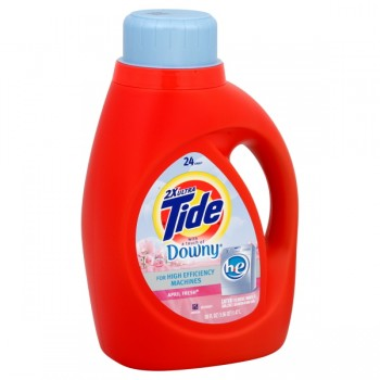 Tide 2X Ultra Concentrated Liquid Laundry Detergent HE Downy April Fresh