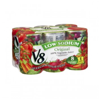 V8 100% Vegetable Juice Low Sodium - 6 pk