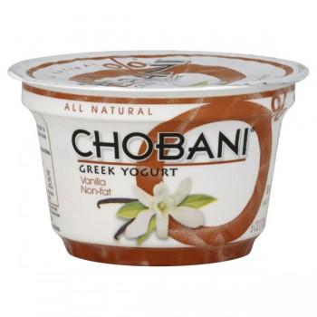 Chobani Greek Yogurt Vanilla 0% Non Fat All Natural
