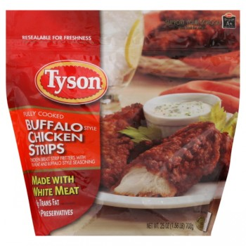 Tyson Chicken Breast Strips Buffalo Style Made with White Meat Frozen