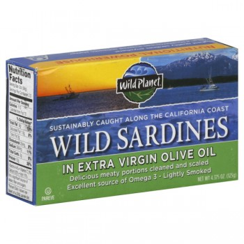 Wild Planet Sardines Wild Lightly Smoked in Extra Virgin Olive Oil