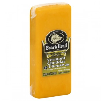 Boar's Head Cheese Cheddar Vermont Yellow Pre-Cut
