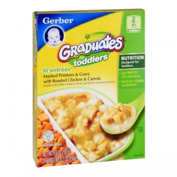 Gerber Graduates Lil' Entrees Mashed Potatoes & Gravy, Chicken & Carrots