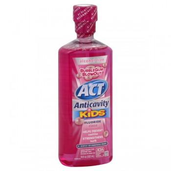 ACT Kids Anticavity Fluoride Treatment Rinse Bubble Gum Blowout