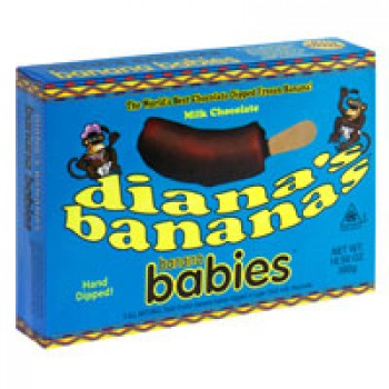 Diana's Bananas Banana Babies Milk Chocolate - 5 ct All Natural Frozen