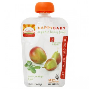 HAPPYBABY Stage 4 Baby Food Spinach, Mango & Pear Organic