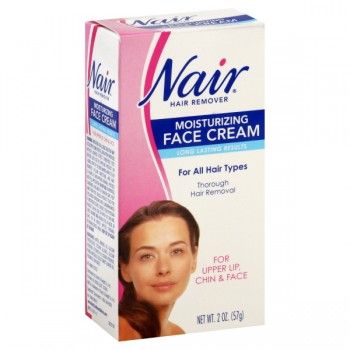Nair Hair Remover Cream for Face with Almond & Baby Oil