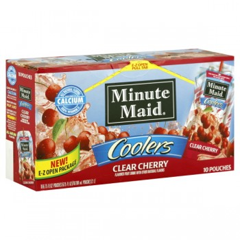 Minute Maid Coolers Clear Cherry - 10 pk