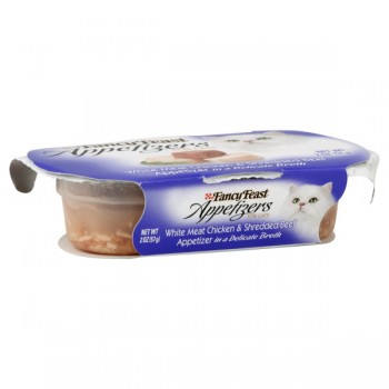 Fancy Feast Appetizers for Cats White Chicken & Shredded Beef in Broth