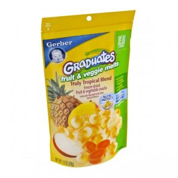 Gerber Graduates Fruit & Veggie Melts Very Truly Tropical Blend