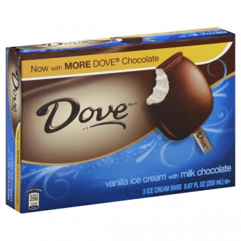 Dove Ice Cream Bars Vanilla Milk Chocolate - 3 ct