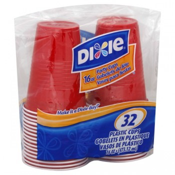 Dixie Drink Cups Red Plastic Value Pack 16 oz