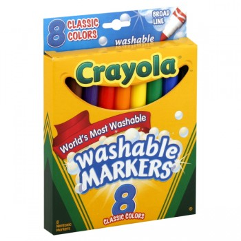 Crayola Markers Washable Classic Colors Broad Line