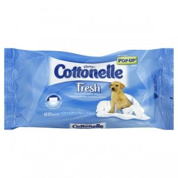 Cottonelle Fresh Moist Wipes Flushable Pop-Up Tub Refill