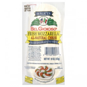 BelGioioso Cheese Mozzarella Fresh Sliced Ready to Serve All Natural