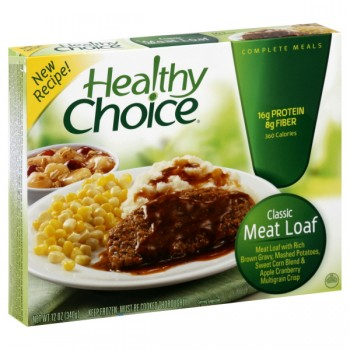 Healthy Choice Meatloaf with Mashed Potatoes