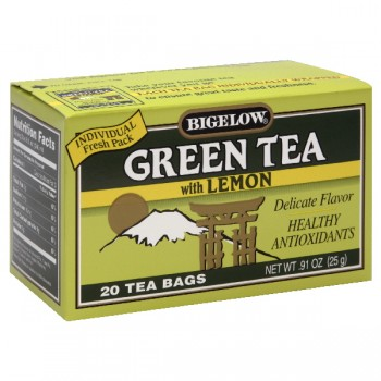 Bigelow Green Tea Bags with Lemon