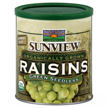 Sunview Raisins Green Seedless Jumbo Organic