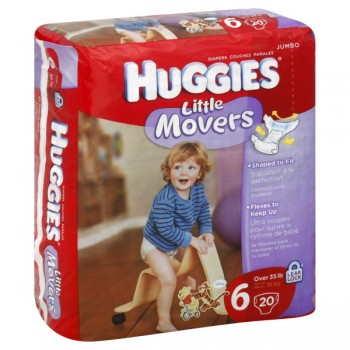 Huggies Little Movers Diapers Size 6 Both Jumbo Pack - 35+ lbs