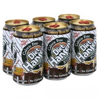Hansen's Creamy Root Beer Diet Calorie Free - 6 pk