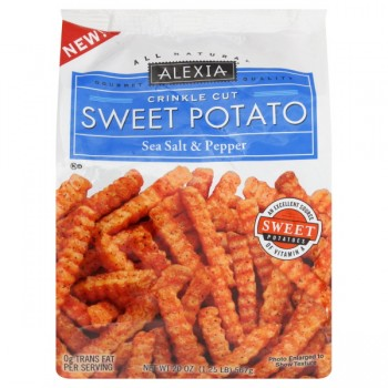 Alexia Crinkle Cut Sweet Potato Sea Salt & Pepper All Natural