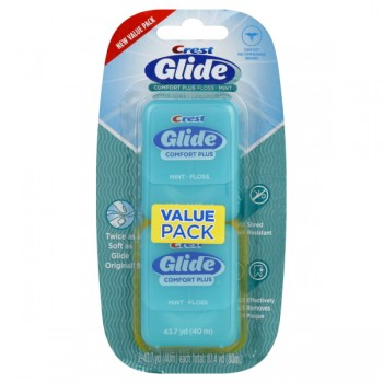 Crest Glide Dental Floss Comfort Plus Mint Value Pack - 2 ct