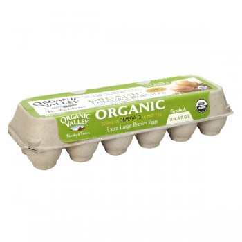 Organic Valley Eggs Grade A Extra Large Brown with Omega-3