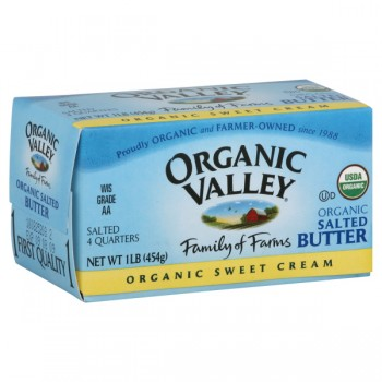 Organic Valley Butter Lightly Salted Sticks - 4 qrtrs