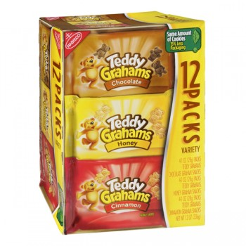 Nabisco Teddy Grahams Variety Snack Pack - 12 ct