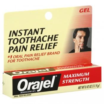 Orajel Oral Pain Reliever Maximum Strength Gel