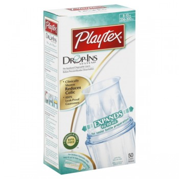Playtex Bottle Liners Drop-Ins Soft Disposable - 8 oz