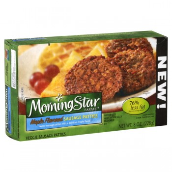 MorningStar Farms Breakfast Veggie Patties Sausage Maple Flavored - 6 ct