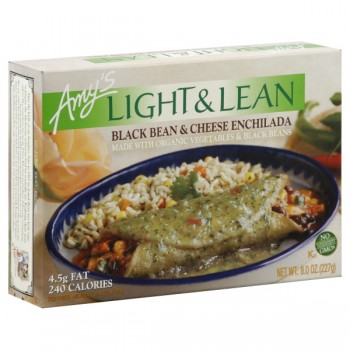 Amy's Light & Lean Enchilada Black Bean & Cheese Organic
