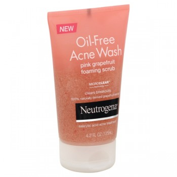 Neutrogena Oil-Free Acne Wash Facial Foaming Scrub Pink Grapefruit