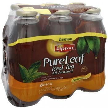 Lipton PureLeaf Iced Tea Lemon Natural Flavors - 6 pk