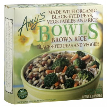 Amy's Bowls Brown Rice, Black-Eyed Peas & Veggies Organic
