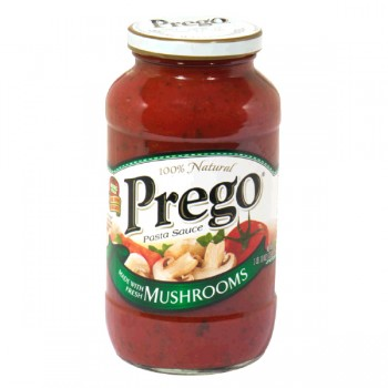 Prego Pasta Sauce with Mushrooms
