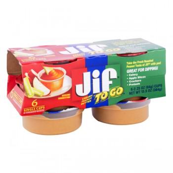Jif To Go Peanut Butter Creamy - 6 pk