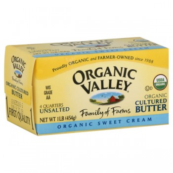 Organic Valley Butter Cultured No Salt Sticks - 4 qrtrs