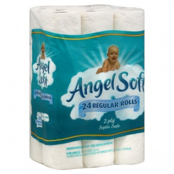 Angel Soft Bath Tissue Single Roll 2-Ply Unscented