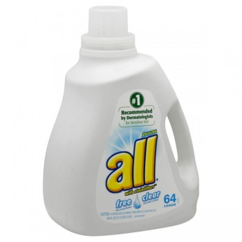 all 2X Ultra Liquid Laundry Detergent Free Clear