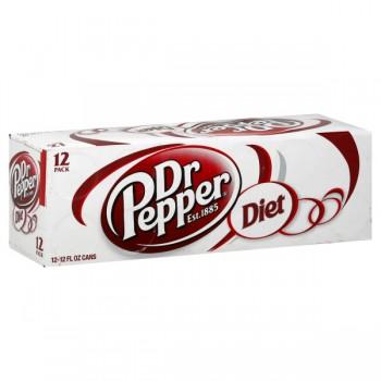 Diet Dr Pepper - 12 pk